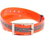 Oranžinis plastikinis antkaklis, atspindintis šviesą, 25 mm х 70 cm
