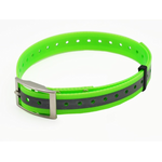 Žalias plastikinis antkaklis, atspindintis šviesą, 25 mm х 70 cm