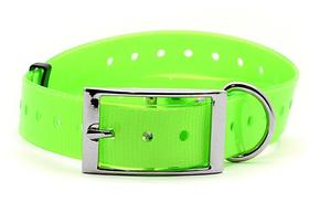 Žalias plastikinis antkaklis, 25 mm х 70 cm