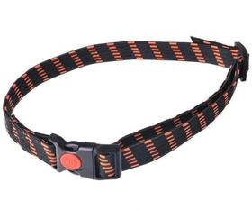 Antkaklis gumutė - juodai-oranžinis 25mm