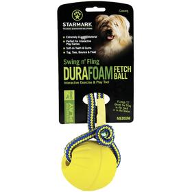 Kamuolys iš gumos su virvute StarMark Swing&Fling DuraFoam Fetch Ball™
