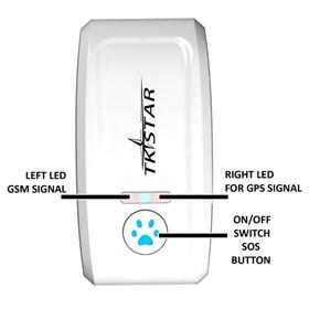 Naujausias apsaugotas nuo lietaus GPS seklio modelis šunims TKStar