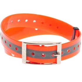 Ошейник пластиковый оранжевый, светоотражающий, 25 мм х 70 см
