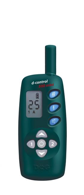 Dresiravimo antkaklis d-control 500 mini skirtas mažų veislių šunims.